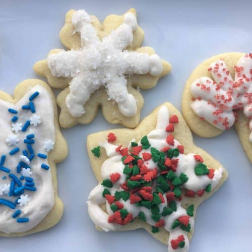 top down shot of sugars cookies
