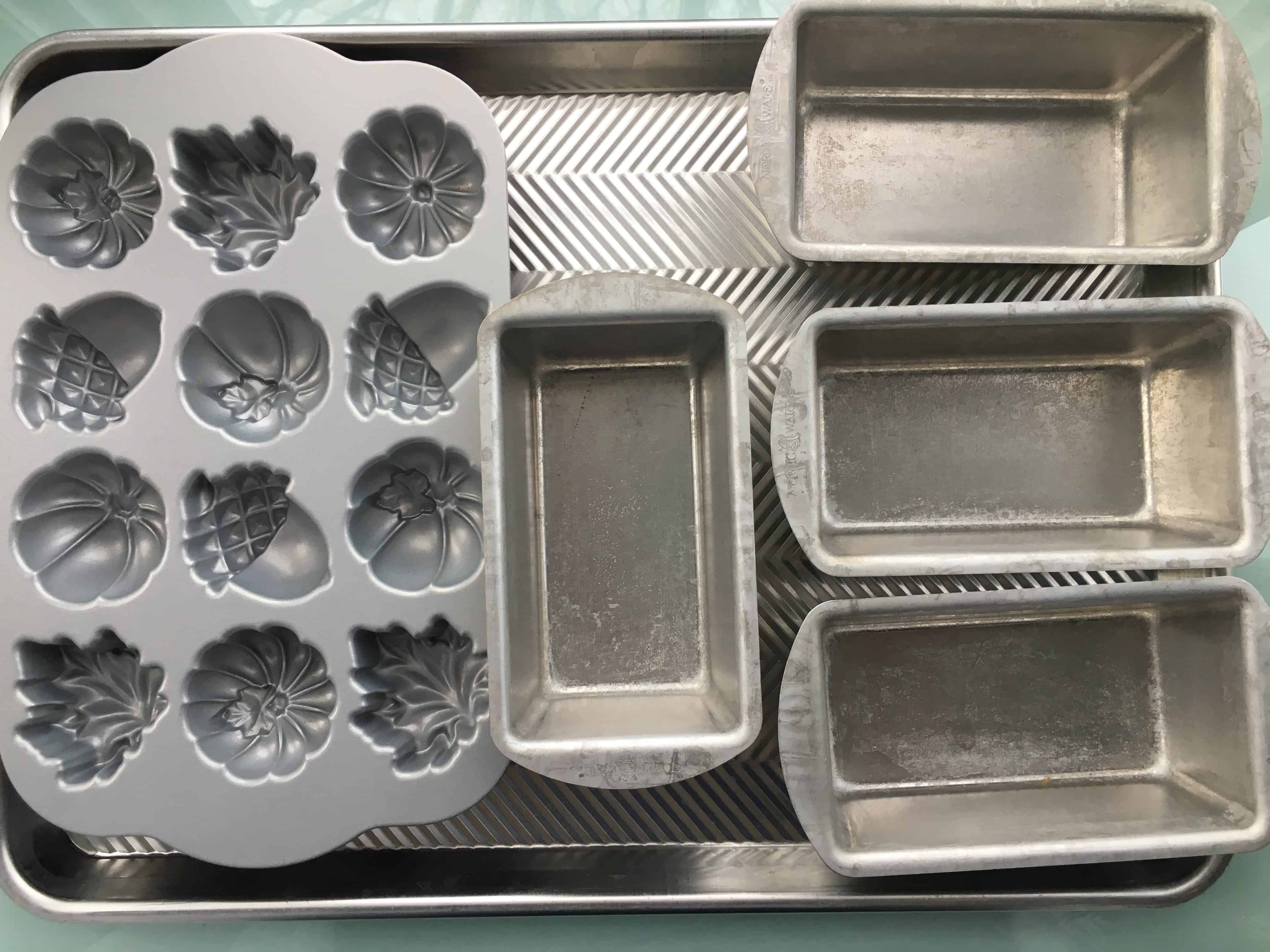 various molds and pans