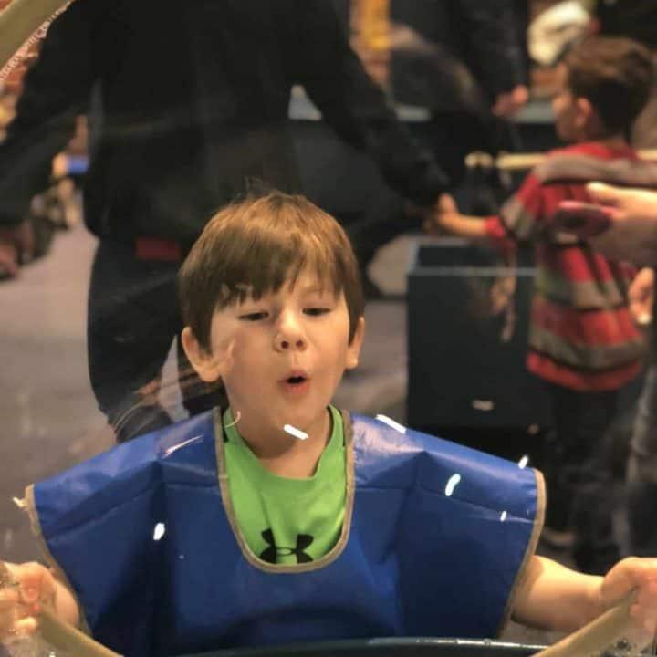 blowing a big bubble boston children's museum