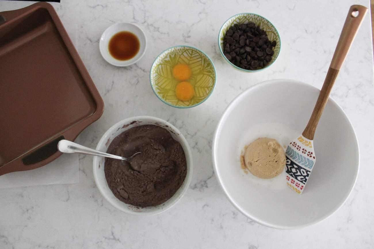 ingredients for The Best Fudgy Brownies
