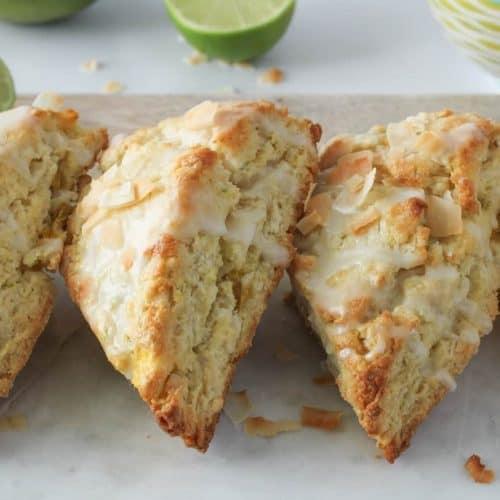 coconut mango scones