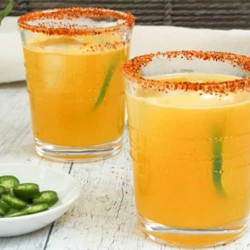 two glasses of margaritas