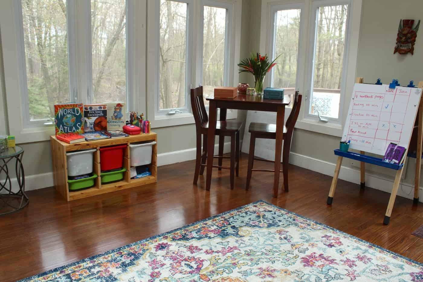 home school work space