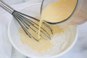 combining liquid and dry ingredients best gluten free pancakes