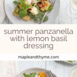 summer panzanella Pinterest
