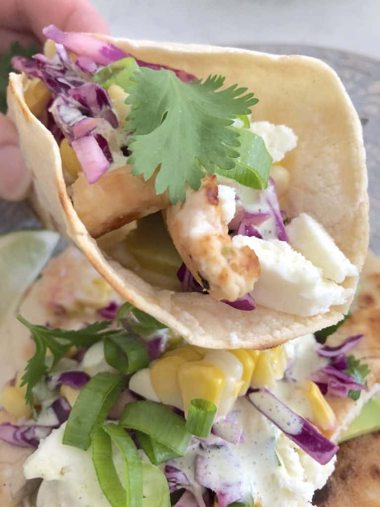 cilantro lime chicken taco ready to eat
