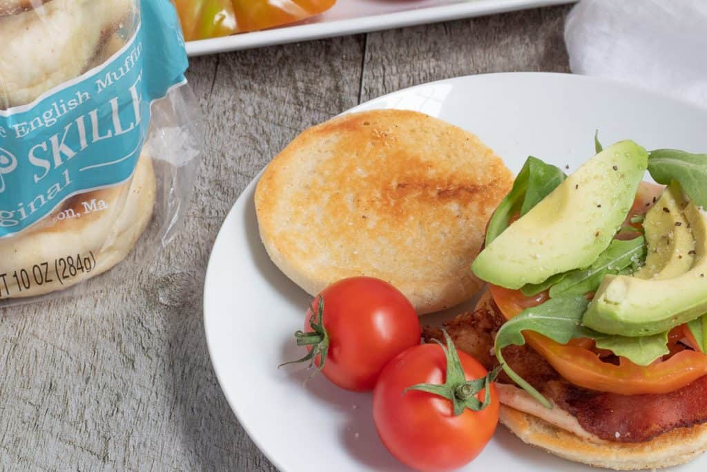 BLT with bag of stone and skillet English muffins