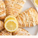 pin for lemon white chocolate chip scones